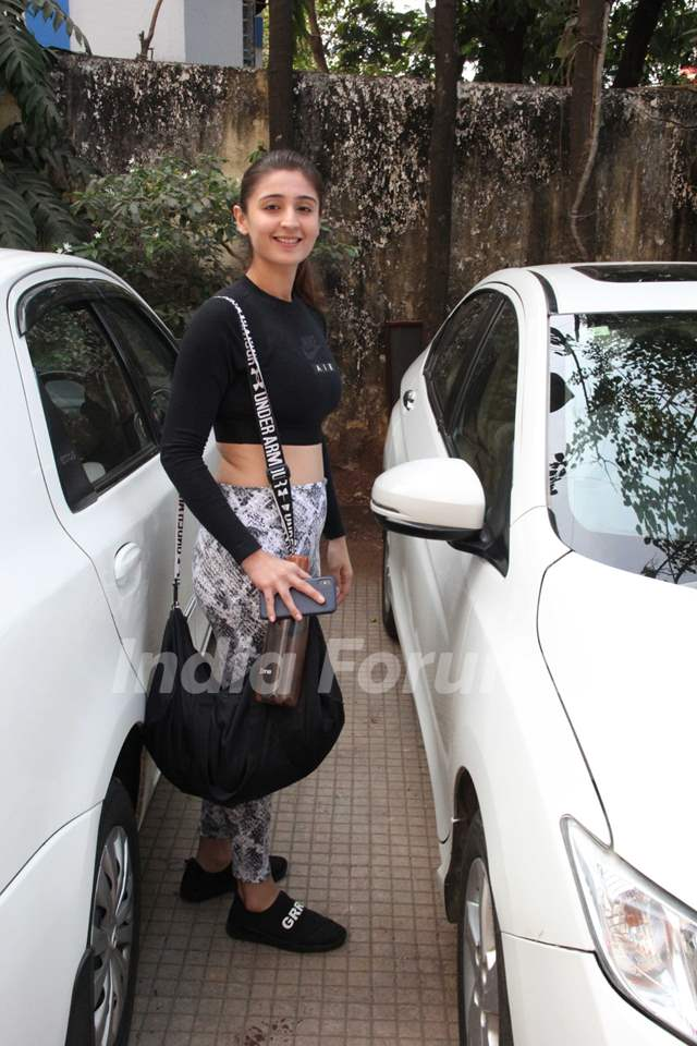 Dhvani Bhanushali spotted around the town