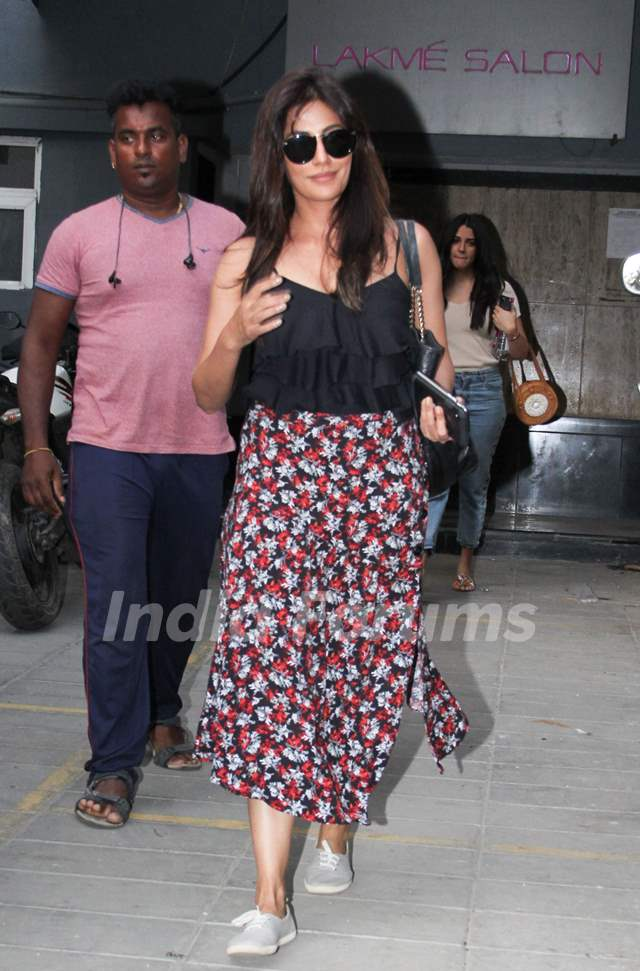 Chitrangda Singh spotted outside a clinic