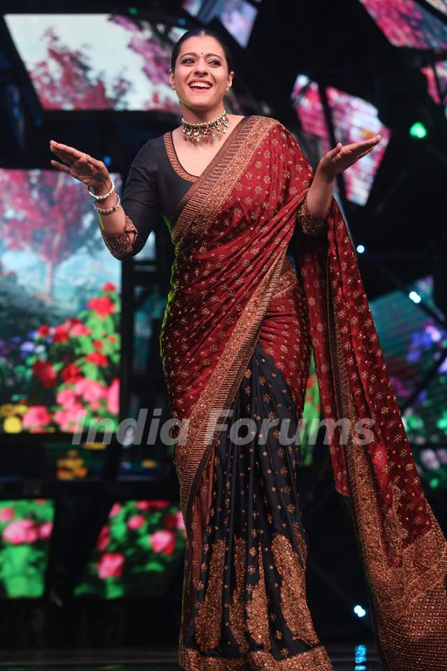 Kajol on the sets of Indian Idol 11