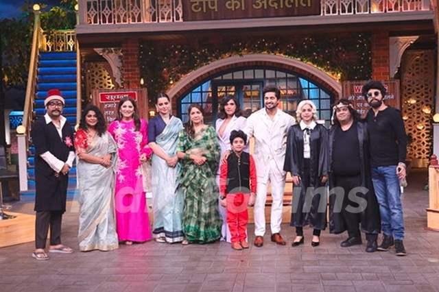 The cast of Panga on the sets of Kapil Sharma Show