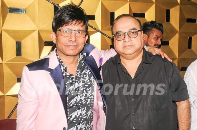 Kamaal R Khan with Rajkumar Santoshi