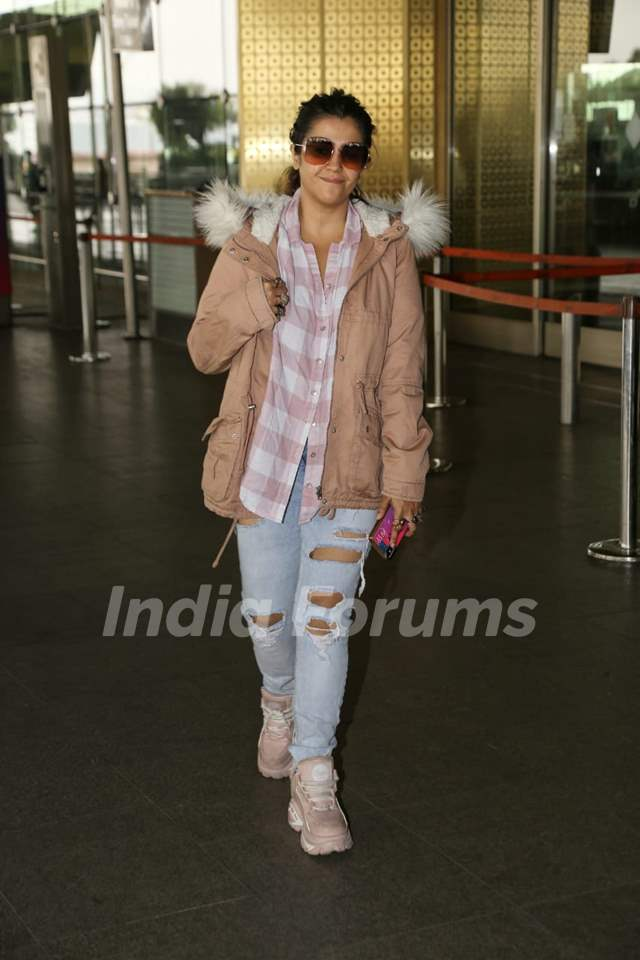 Ekta Kapoor spotted at airport