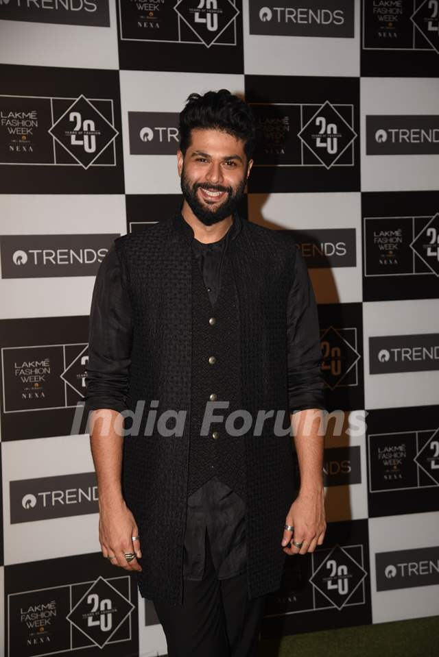 Kunal Rawal spotted at Lakme Fashion Week