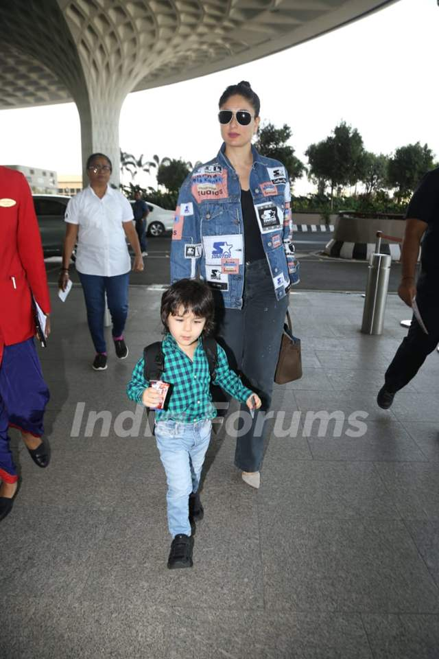 Kareena Kapoor and Taimur Ali Khan snapped at Airport!
