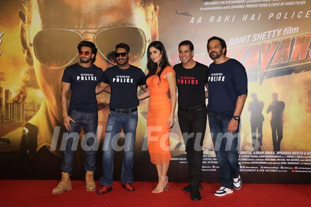 Ranveer, Ajay, Katrina, Akshay and Rohit at the trailer launch of Sooryavanshi!