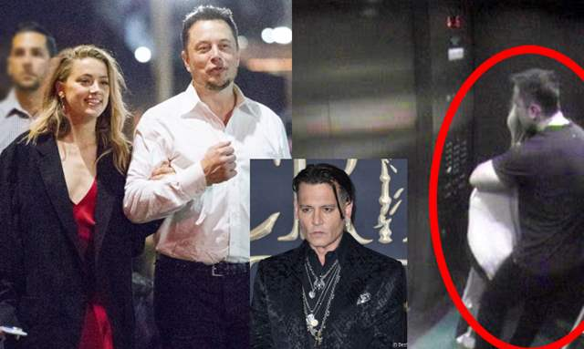 Amber Heard spotted with Elon Musk in an elevator