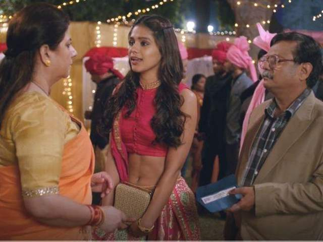 Binny with her parents in series