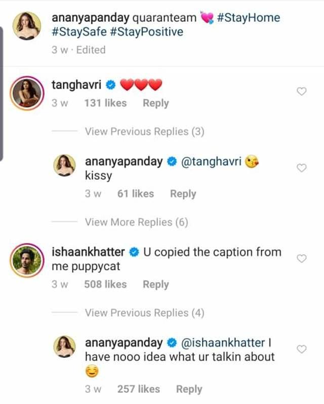 Ananya Panday Ishaan Khatter chats