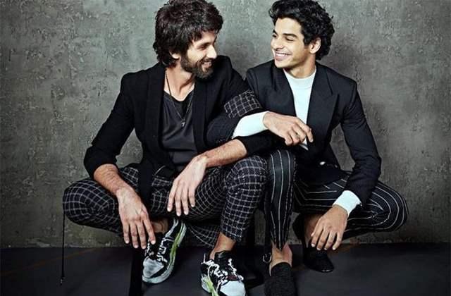 Shahid Kapoor and Ishaan Khatter