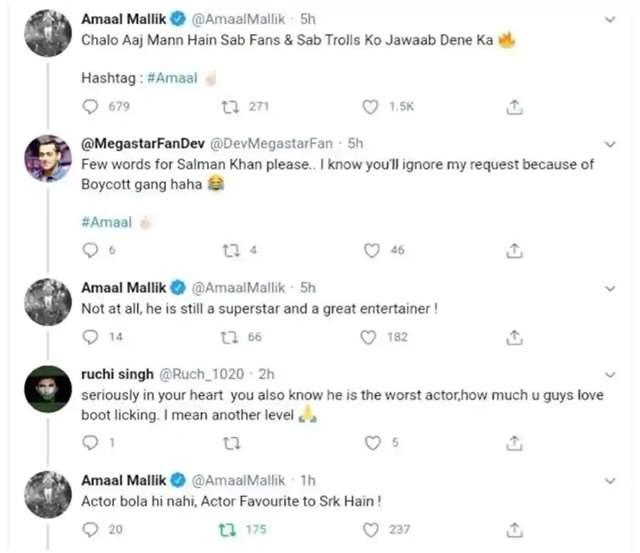 Salman Khan Fans and Amaal Mallik Get Into Twitter Fight