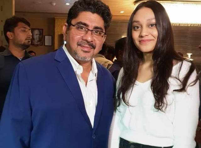 Rajan Shahi with daughter Ishika Shahi
