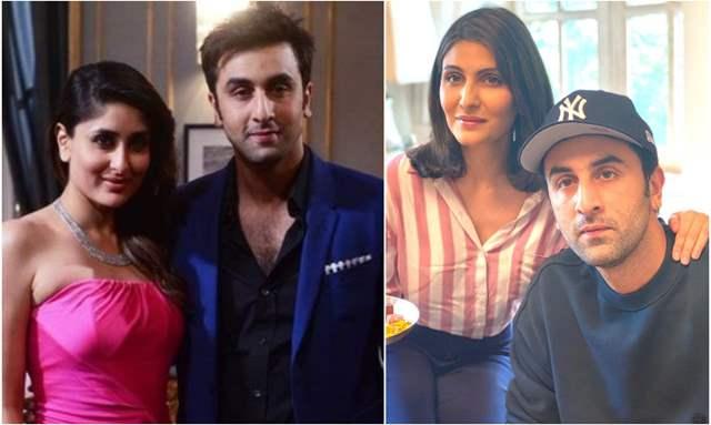 Ranbir Kapoor with Kareena Khan and Riddhima Kapoor Sahni