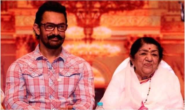 Aamir Khan and Lata Mangeshkar