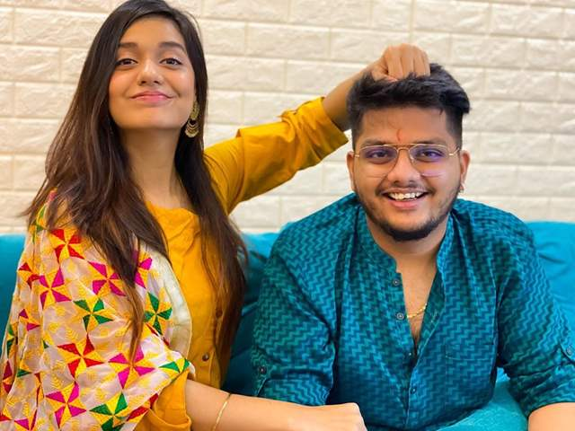 Divya Agrawal and her brother