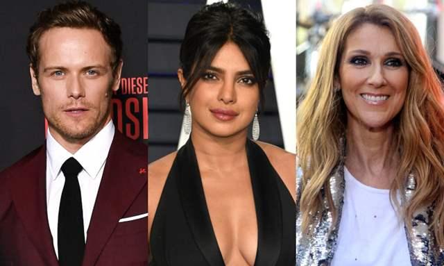 Sam Heughan, Priyanka Chopra and Celine Dion