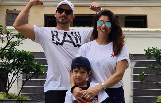 Arjun Bijlani with his family