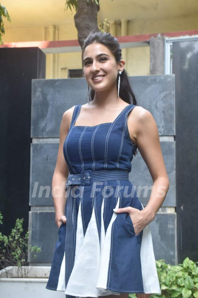 Sara Ali Khan at the promotions of Coolie No. 1