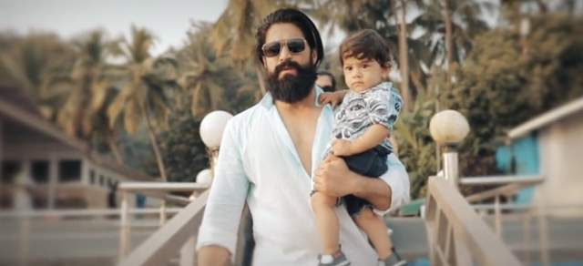Superstar Yash with Son