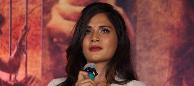 Richa Chadha speaking