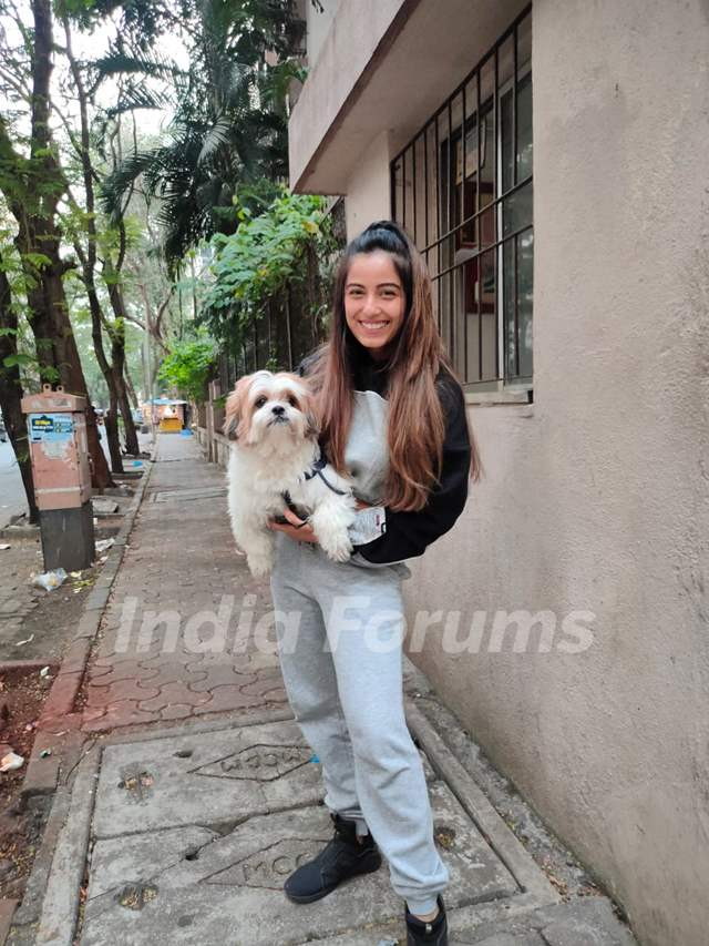 Srishty Rode snapped around the town!