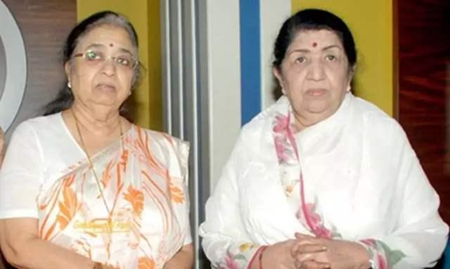 Usha Mangeshkar and Lata Mangeshkar