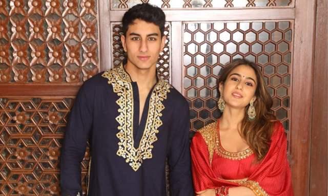 Ibrahim Ali Khan and Sara Ali Khan