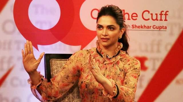 Deepika Padukone speaking