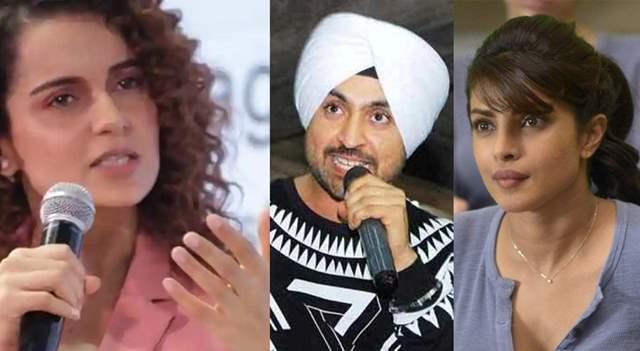 Kangana Ranaut, Diljit Doshaj and Priyanka Chopra