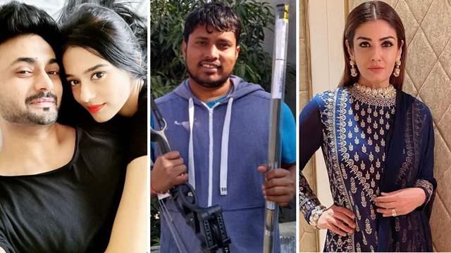 Raveena Tandon, Amrita Rao, RJ Anmol