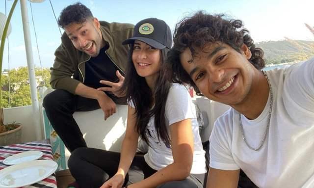 Katrina Kaif, Siddhant Chaturvedi and Ishaan Khatter