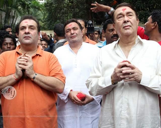 Rajeev Kapoor Rishi Kapoor Randhir Kapoor