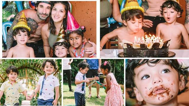 Sunny Leone's twin sons Asher and Noah