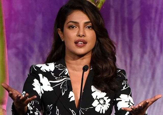 Priyanka Chopra speaking