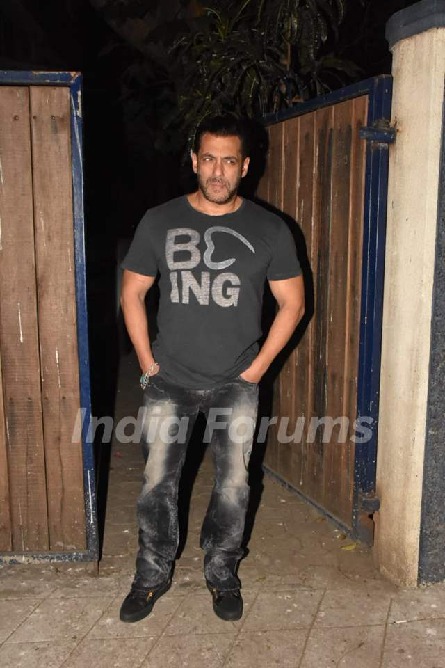 Salman Khan snapped outside a recording studio!