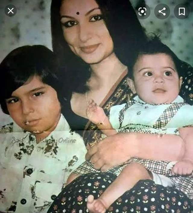 Sharmila Tagore with Kids