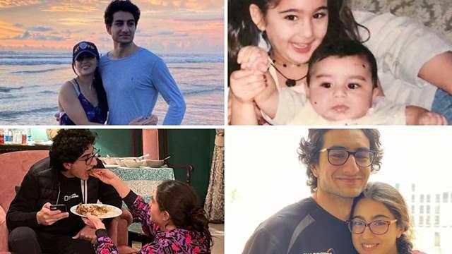 Sara Ali Khan brother Ibrahim Ali Khan birthday