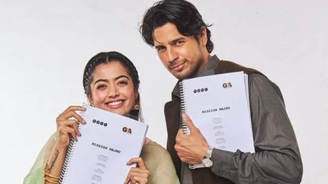 Mission Majnu co stars Rashmika Mandanna and Sidharth Malhotra