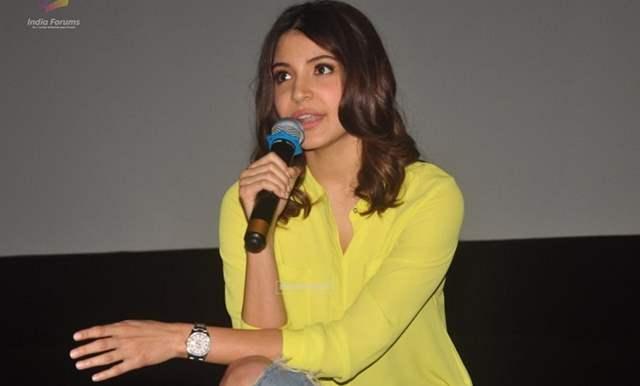 Anushka Sharma speaking