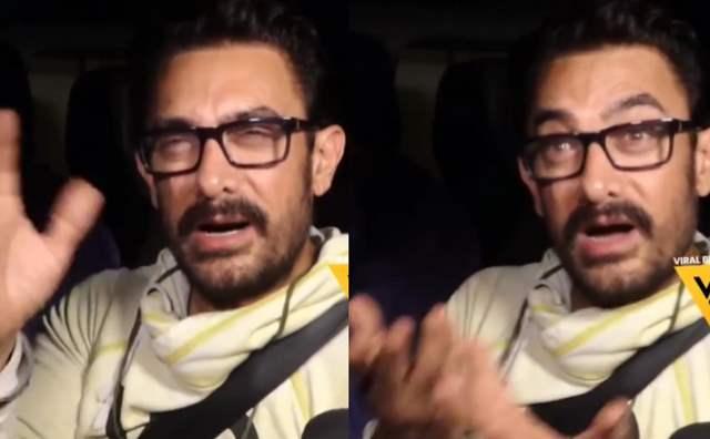 Aamir Khan speaking