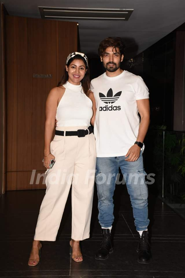 Gurmeet Choudhary and Debina Choudhary at the special screening of 'The Wife'