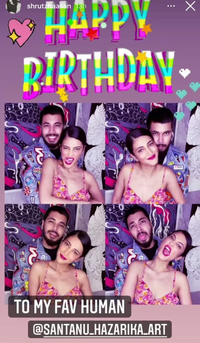 Shruti Haasan celebrates boyfriend Santanu Hazarika