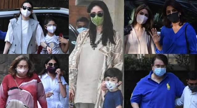 Kapoors at Kareena home
