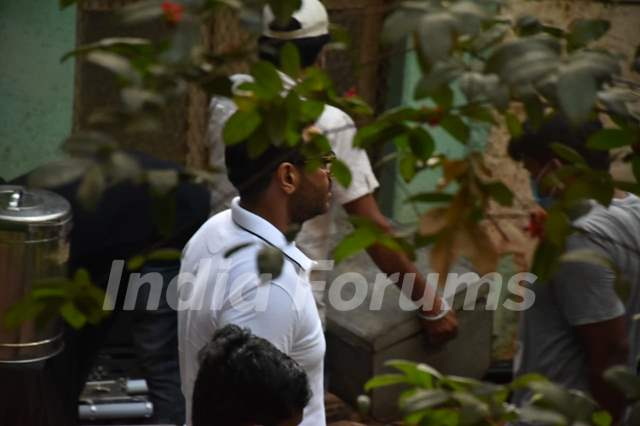 Ajay Devgn snapped at a shoot location in Bandra