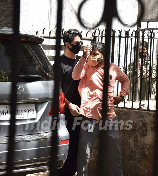 Aryan Khan snapped at a clinic in Juhu