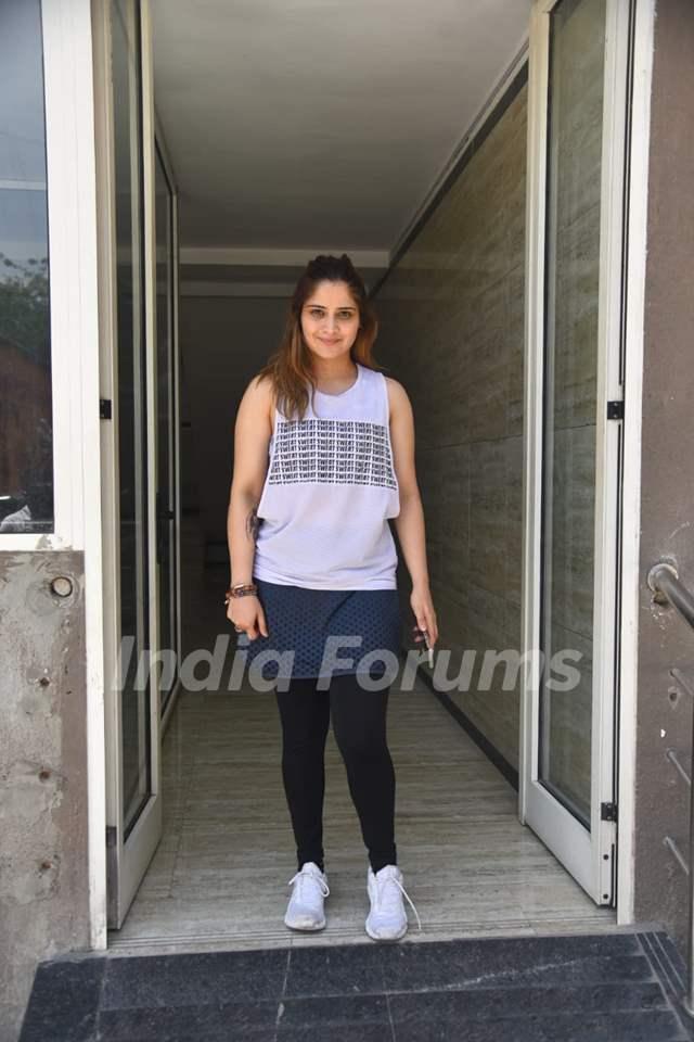 Aarti Singh snapped at gym in Andheri