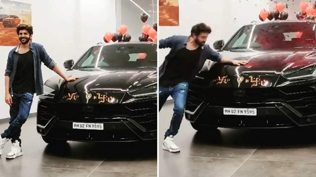 Kartik Aaryan purchased a new Lamborghini car