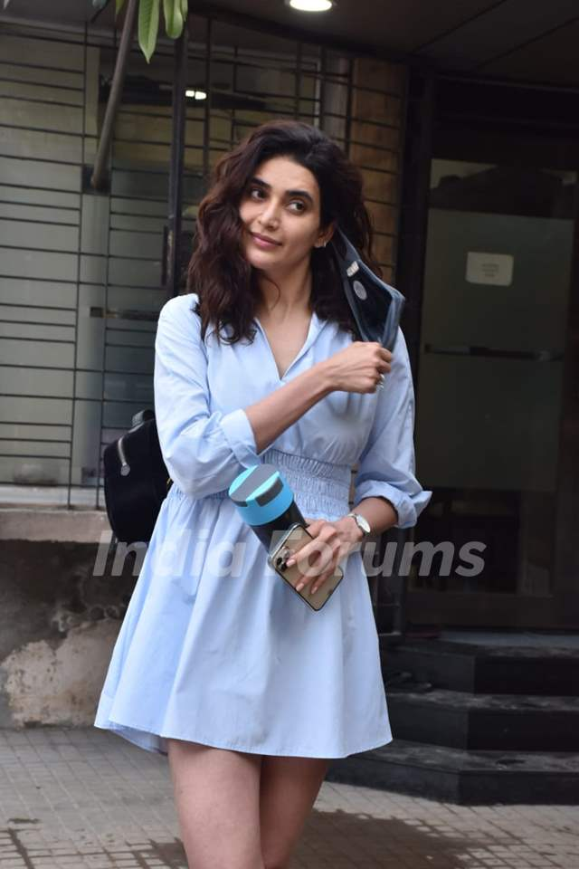 Karishma Tanna snapped at a clinic in Juhu