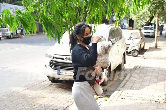 Neha Sharma spotted in Bandra