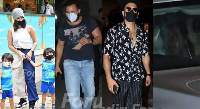 SRK, Saif, Ranveer, Sunny with kids
