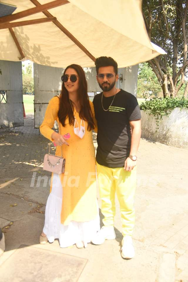 Rahul vaidya and Disha Parmar spotted at Santacruz
